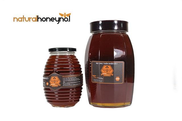 So sánh hũ 1000g và 2,6kg mật ong Hà Giang