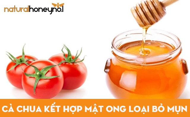 Mặt nạ cà chua kết hợp mật ong nguyên chất trị mụn tốt
