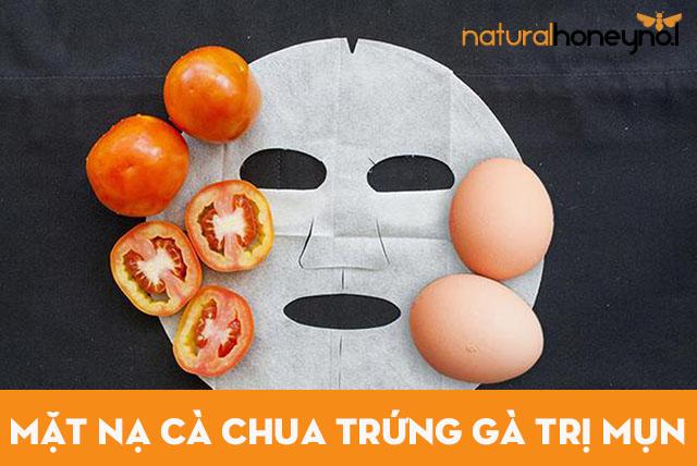 Cà chua kết hợp lòng đỏ trứng gà cho làn da sạch mụn, tươi sáng