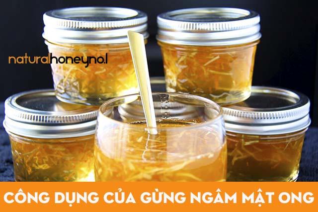 Gừng ngâm mật ong có nhiều lợi ích điều trị bệnh cực tốt