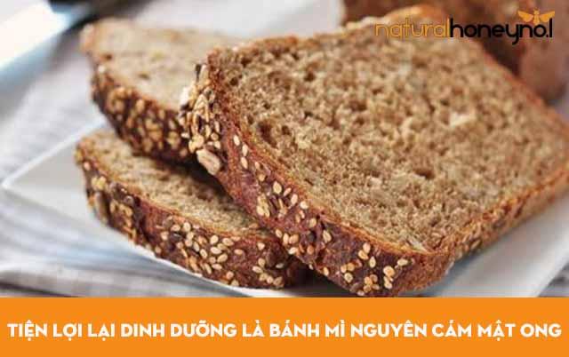 Bánh mì nguyên cám mật ong rất tiện lợi lại dinh dưỡng