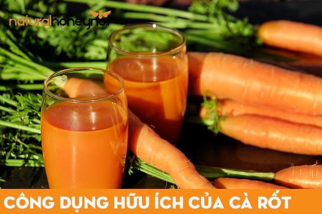 cà rốt chứa nhiều vitamin, chất xơ và các chất dinh dưỡng khác tốt cho sức khỏe và làn da
