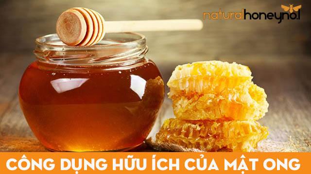 trong mật ong chứa nhiều vitamin và các chất có tính kháng khuẩn cao, tiêu viêm làm đẹp và trị mụn