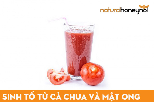 sinh tố từ cà chua và mật ong thơm ngon, bổ dưỡng, tốt cho sức khỏe và làm đẹp hiệu quả