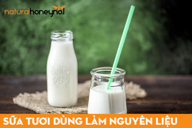 Sử dụng sữa tươi, sữa chua và sữa đặc để làm kem sữa chua mật ong