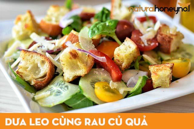 dưa leo được chế biến trong món ăn