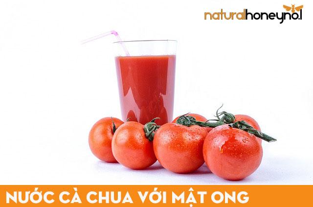 nươc cà chua với mật ong