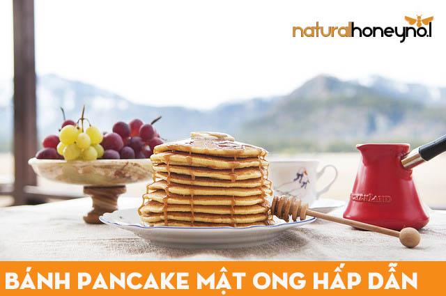 Chỉ với vài bước đơn giản bạn đã có thể hoàn thành món bánh pancake mật ong thơm ngon rồi