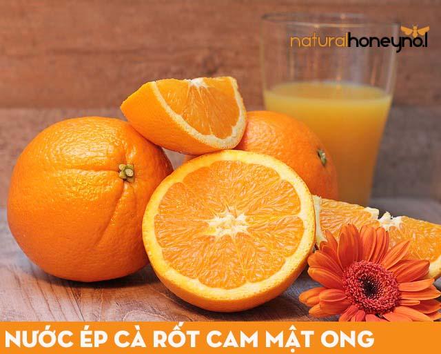 giải nhiệt với mật ong cùng với cà rốt, cam