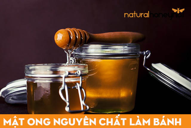 Mật ong nguyên chất làm bánh sữa dừa mật ong