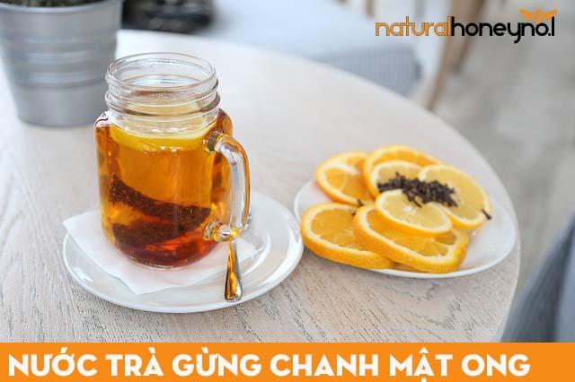 nước trà gừng chanh với mật ong