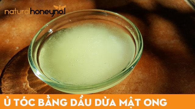 Sử dụng mật ong kết hợp với dầu dừa để dưỡng tóc hiệu quả giúp tóc mềm mượt.