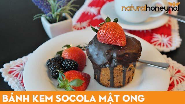 bánh kem làm từ bột cacao với mật ong nguyên chất