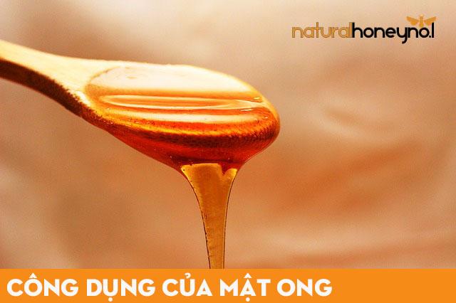 công dụng của mật ong giúp giảm chứng viêm họng