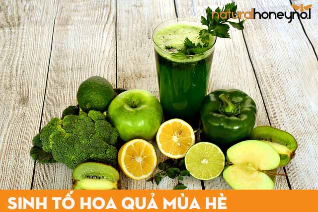 sinh tố hoa quả rất tốt cho sức khỏe, cung cấp các loại vitamin cần thiết cho làn da