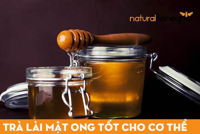 Mật ong nguyên chất nguyên liệu pha trà lài mật ong