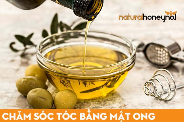 Chăm sóc tóc bằng mật ong và dầu olive